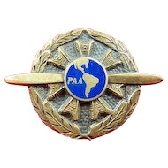 Rare Pan American Airways Pan Am PAA Ground Mechanic Lapel Badge 1930-1944