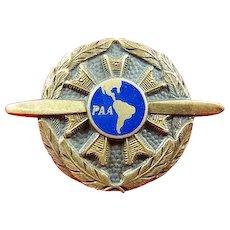 Rare Pan American Airways Pan Am PAA Ground Mechanic Lapel Badge 1930-1944