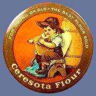 Ceresota Flour Advertising Celluloid Pinback Button ca. 1900