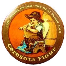 Ceresota Flour Advertising Celluloid Pinback Button ca. 1900