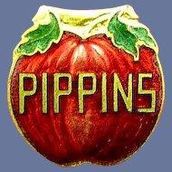 PIppins Brand Cigar Advertising Collar or Lapel Clip Boston, Mass
