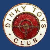 Dinky Toys Club Members Pin circa 1960's original