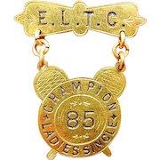 E.L.T.C. Edgbaston Lawn Tennis Club Champion Ladies Single Award Medal 1885