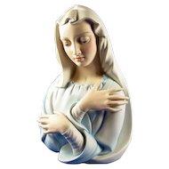 Boehm White Porcelain La Pieta Madonna Figurine Premier Issue 1986 Painted Version