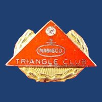 Nabisco Company Triangle Club Pin 10-30 Years Service Award Pin 10K & Diamond