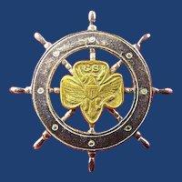 Girl Scouts Mariners Membership Pin ca. 1950s