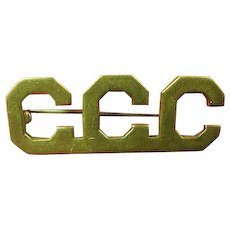 Unusual CCC Civilian Conservation Corps Officers Collar Insignia 1930's
