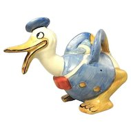Rare Small Size Early Walt Disney Long-Billed Donald Duck Teapot Wadeheath England Excellent Condition ca.1935