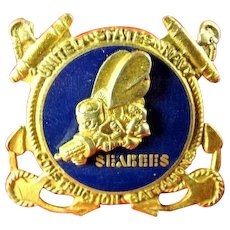 WWII US Navy Seabees Sweetheart Pin MACO Roch. NY Sterling