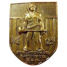 WWII US Naval Construmius Batuimus U.S.N. Seabees CB's Distinguished Insignia Badge Pin