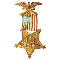GAR Grand Army of the Republic Membership Medal ca. 1890s-1910s # B65927