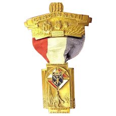 Knights of Columbus Convention Cincinatti, OH Medal 1938