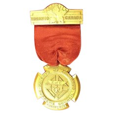Knights of Columbus Annual Convention Toronto, Canada Medal 1936