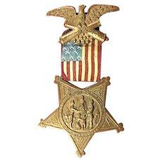 G.A.R. Grand Army of the Republic Membership Badge Medal # B 36797 ca. earlier 1900's