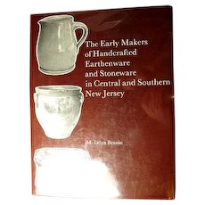 Book: The Early Makers of Handcrafted Earthenware and Stoneware in Central and Southern New Jersey