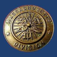 League of American Wheelmen L.A.W. Massachusetts Division Lapel Pin Ca. 1890's