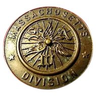 League of American Wheelmen L.A.W. Massachusetts Division Lapel Pin Ca. 1890's