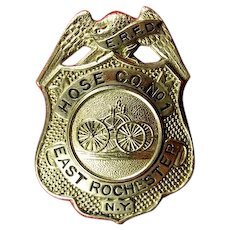 East Rochester, NY Hose Co. No. 1 Fire Department Badge ca. 1940's