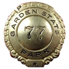 Garden State Park (NJ) Race Track Police Badge #77