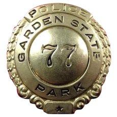 Garden State Park (NJ) Race Track Police Badge #77