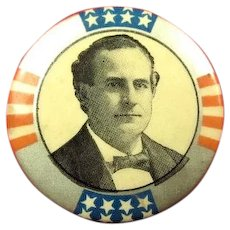 """1900 William Jennings Bryan For President Political Campaign Pinback Button 1-1/4"""""""