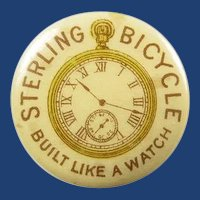 Sterling Bicycle Company Advertising Lapel Stud Button Chicago ca. 1896