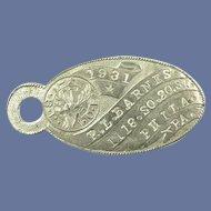 1931 Elks Member ID Keychain Tag Nickel