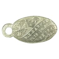 1931 Elks Member ID Keychain Tag Nickel