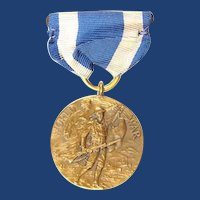 WWI US New York State Awarded Service Medal #76042