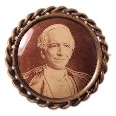 Pope Leo the XIII In Memorium Sepia Toned Photo Pin ca. 1903