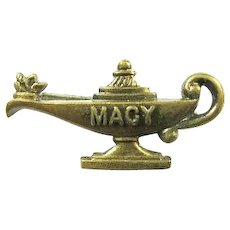 Girl Scouts Camp Macy Urn of Knowledge Lapel Pin ca. 1950s