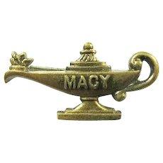"""""""Macy"""" Camp ( Edith) Macy Lamp of Knowledge Lapel Pin ca. 1950s"""
