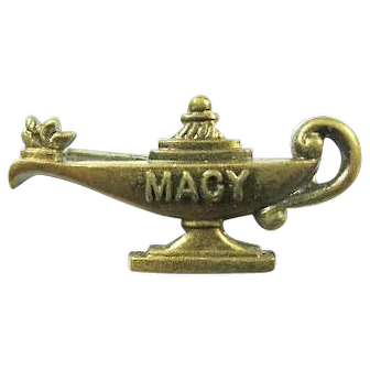 """Macy"" Camp ( Edith) Macy Lamp of Knowledge Lapel Pin ca. 1950s"