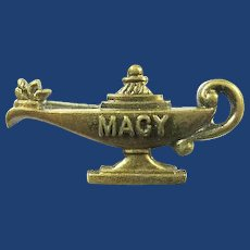 """Macy"" Camp ( Edith) Macy Urn of Knowledge Lapel Pin ca. 1950s"