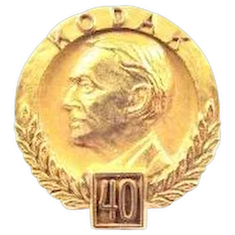 Kodak Camera Company 40 yrs. Service Pin 10K Gold