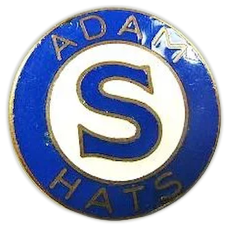 Adam Hat Company Pin ca. 1930s-1940s