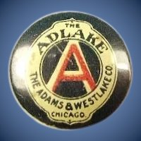 The Adlake Lantern Railroad Supplies The Adams & Westlake Company Chicago Lapel Stud Pin ca. 1896-1900