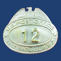 East Paterson Elmwood Park, New Jersey Post Office Carrier Cap Badge Insignia (Error Badge) ca. 1940's