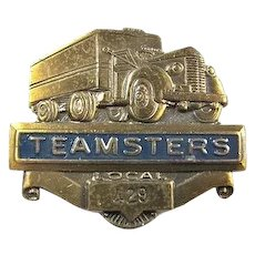 Teamster Local Union #429 Wyomissing, PA Trucking Members Badge ca. 1950's
