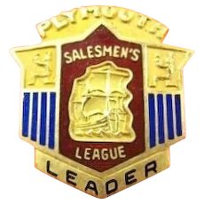 Plymouth Automobile Company Salemen's League Leader Pin ca. 1940's-50's