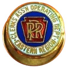 P.R.R. Pennsylvania Railroad Clerks Assn. Operating Dept. Eastern Region Members Pin ca. 1920's-30's