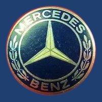 Mercedes Benz Automobile Company Pin Aluminum Vintage