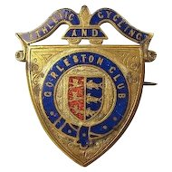 British Gorleston (By-The-Sea) Athletic and Cycling Club Members Badge Pin ca. 1890's- 1900's