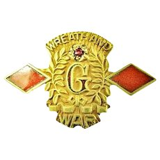 B.F. Goodrich 5 or 7 years Company Service Pin WWII Period Josten G.F.