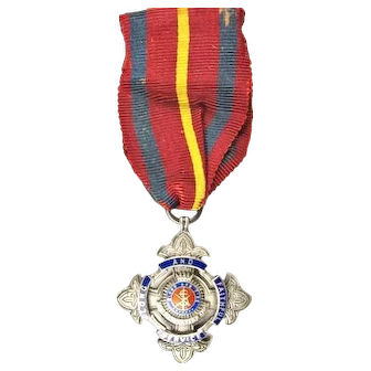 WWII Salvation Army Long and Faithful Service Medal Named & Dated Sterling B & P