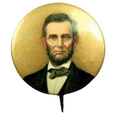Abraham Lincoln Centennial Period Advertising Pinback Button ca. 1909-1910