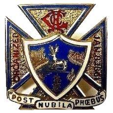 Hartford City Guard Veterans Assoc. Members Badge 10K Gold