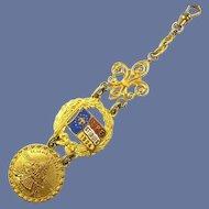 1904 (LPE) Louisiana Purchase Exposition St. Louis Worlds Fair Souvenir Watch Fob