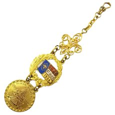 1904 (LPE) Louisiana Purchase Exposition St. Louis Worlds Fair Souvenir Watch Fob