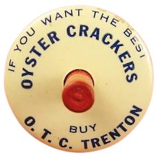 O.T.C. Trenton Oyster Crackers Advertising Toy Top
